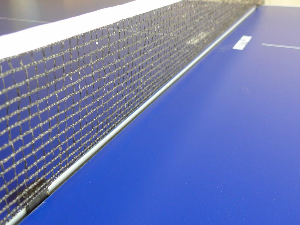 Tischtennisnetz mit Tischtennisplatte